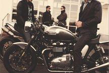 Triumph Bonneville + Thruxton / by Steve Huot