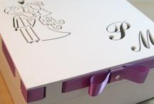 Caixa de madeira para convites de Pardinhos e Madrinhas