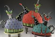 Teapots / by Connie Creatures Dragons & Pottery