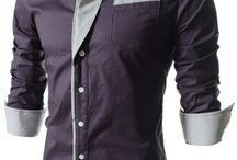 Men's Dress Shirts / Korean fashion Button-down Dress shirts for men.