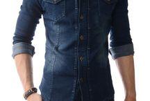 Men's Casual Shirts / Korean casual fashion button-down shirts for men.