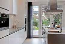 Home: kitchen / Kitchen, dinner room, design, eat, table, sink, stove, cooking etc.