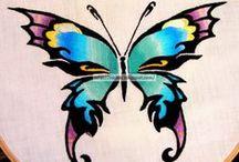1. my embroidery / moje tworki /  embroidery / cross stitch / sewing / felt