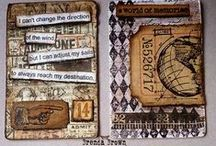 Artist Trading Cards (ATC) / What are ATC's? Miniature artworks size 2.5 x 3.5 inch that can be collected and swapped.
