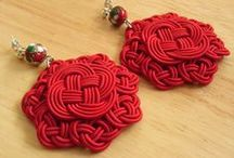 makrama macrame kolczyki / earrings