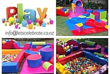 Lets Celebrate Soft Play Hire ~ info@letscelebrate.co.nz / Little ones love to climb up and jump off things and in doing so sometimes hurt themselves and end up in tears. Soft Play provides a safe playground for smaller children to play in.  Mobile soft play packages to entertain children from 6 months to 4 years old. Soft Play ensures your little ones have fun in a safe environment. Perfect for summer and winter parties... Indoor or outdoors.  Many parties have been set up with Let's Celebrate Soft Play, with excellent results and happy children.