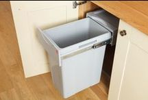 Kitchen Waste Bins / Our Easy-Cargo waste bins are the ideal accessory for hiding away unsightly rubbish in solid oak kitchens.