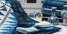 Something Blue / A 2015 design by Jacqueline de Jonge; fabrics from Anthology fabics