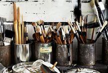 Art studio, craft room, workshop / Creative spaces, neat or messy, where creative people work their magic.