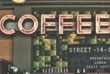 Old-School Signs / Derelict, decrepit signage, old-school signs; ravaged coffee shop finds.