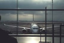 airports  -fly too / global traveling - airports - lounges - and the feeling of exploring - essentials