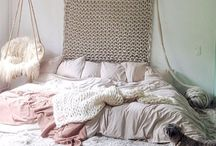 Bedroom / Beautiful, cozy, inspirational bedrooms. A place to relax.