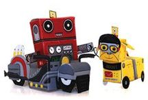 RetroBot & Friends / Our very own MacForce 3-D mascot, and frined! Download and assemble!