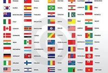 World, countries, flags...
