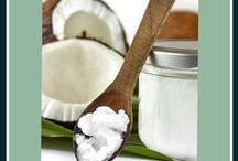 Coconut / Coconut in many forms is good for food and other uses.