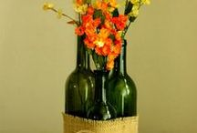 DIY Wine Bottles / From Vineyard Weddings to fancy parties....decorate with your used wine bottles.  (bottle cutting projects....proceed with caution)