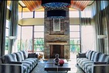 Fireplaces / Beautiful and creative fireplace ideas using stone from Montana Rockworks!