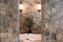 Bathrooms / Great bathroom ideas using stone from Montana Rockworks!