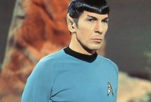 Leonard Nimoy / The man we call Spock. Half human half Vulcan.