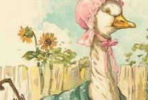 Mother Goose / Vintage English Fairy Tales we have had with us for children since the 17th Century.