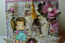 Magnolia Tilda cards by me