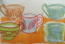 Teacups / This is about the making of, Storm in a Teacup, a series of linocuts and a book.
