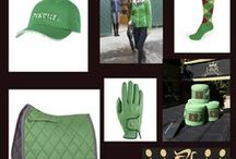 Matching Saddle Pads and Bandages / Mattes Saddle Pads, BR's Fleece Bandages and Patent Dressage Reins