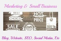 Marketing & Small Business / Marketing material, descriptive writing, SEO, website, etc