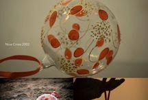 Sfere di vetro soffiato decorate a mano diguel / diguel