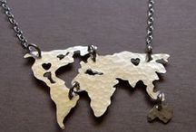 State and Country Jewelry / State and country shaped jewelry hand cut by OhSoANTSY to serve as a reminder of the people and places we love.
