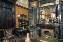"""INTERIORS-Victorian to WWI / """"There is no excuse for doing anything which is not strikingly beautiful.""""~William Morris / by Sacheverelle"""