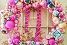 Wreath Whimsy ~ / Wreaths are my Craft Obsession! Here are hundreds of beautiful wreaths for every season, holiday or occasion, made out of everything from ~ Felt, Yarn, Fabric, Ribbon,  Paper, Vintage Ornaments, Flowers, Tulle, Burlap & More! / by Megan Berridge