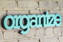 Organize It! / Organizing Tips, Ideas, Products & Printables!  Also, see my Organize It! Crafts ~ Board  / by Megan Berridge