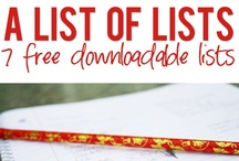List-a-way / checklists, how-to-lists, honey-do-lists, etc. / by Elizabeth Johnson