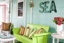 Cottage Chic ~ / Colorful Cottage Decor  / by Megan Berridge