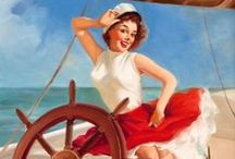Hey, Sailor! / Hit the deck! Nautical necessities, sassy sailorettes and sea-sirens will always rule our mischievous maritime hearts. Vintage sailor style ahoy!