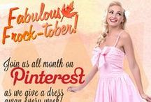 Fabulous Frock-tober! / For the month of October, your favorite dames are giving their darlings a chance to win big!  / by Unique Vintage