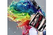 MANIC PANIC Rainbow Heads / Mixing multiple colors of Manic Panic can give you some outrageous rainbow hair! Rainbows aren't just meant for your head, though, they can also make beautiful beards, pits, and more!