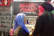 MANIC PANIC Color Asylum Salon / We made love to Ricky's NYC and created an amazing hair salon in Manhattan! It's located at 1412 Broadway and 39th St in the Garment District of NYC. Call (212) 768-1174 today to book your appointment!
