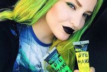 Dye Hard Hair Gel / Not ready for the commitment of semi-permanent dye? Try our Dye Hard colored hair gels, instead! They will come out with one washing.