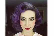 MANIC PANIC Retro Rolls / Update your Retro sense of style with a bright, modern hair color! The glamourous architecture of a victory roll is the perfect way to show off Manic Panic color!