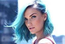 MANIC PANIC Mermaid / Mermaid hair is all the rage these days, and you can get the perfect shade with Manic Panic! This light aqua color has more blue than Siren's Song, but is paler than Atomic Turquoise.