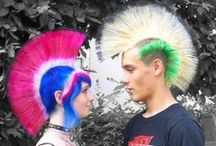 Massive Mohawks / Nothing says punk more than a massive mohawk. Add in a little Manic Panic, and you'll really be killing it!