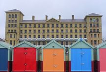 HOVE ~ Beach Huts / Hove, East Sussex: The beach huts are located on Hove promenade and built from wood. The council owns the site and owners of the huts have to purchase an annual licence. There are restrictions on what colours they can be painted as set by the council.  / by Hove ★ Actually