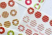 Trendy Page Dots   Planner Stickers / These circle reinforcements are sweet pops of color to dress up your pages.  Use with your Filofax, Color Crush Planner, Kikki K, or any ring style planner.  Great for notebooks and loose leaf paper, too.