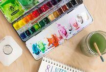 watercolors - tutorials
