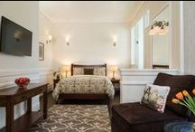Charming Accomodations / Take a peek inside the charming guest rooms at the Cheshire Cat Inn in beautiful Santa Barbara, CA
