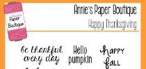 Happy Thanksgiving Stamps by Annie's Paper Boutique