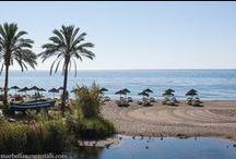 Marbella beaches, Spain / Beaches in Marbella, Spain, Playas en Marbella, España