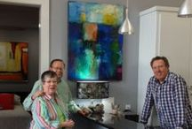 Hooshang's art sales - samples / Examples of recently sold paintings by the artist Hooshang Khorasani.
